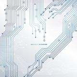 电路板,技术背景 也corel凹道例证向量 库存图片