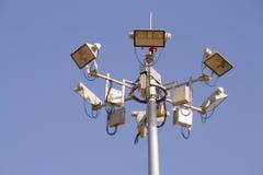 电路灯柱 免版税库存照片