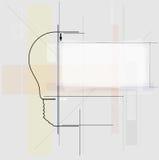 电路电灯泡技术企业背景 库存图片