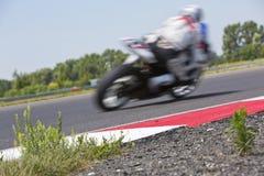电路的摩托车竟赛者 图库摄影