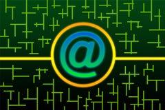 电路e邮件 免版税库存图片