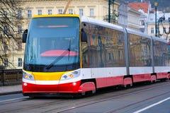 电车中止在布拉格 免版税库存照片