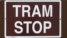 电车中止 免版税图库摄影