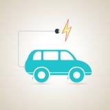 电车充电器电池 也corel凹道例证向量 免版税库存图片
