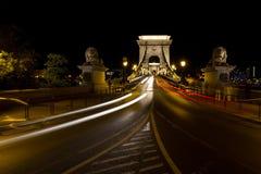 电车光在布达佩斯 免版税库存照片