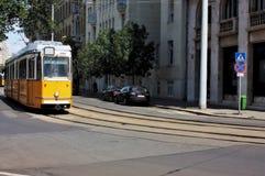 电车在布达佩斯匈牙利 库存照片