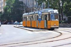电车在布达佩斯匈牙利 库存图片