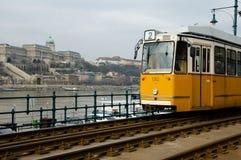 电车在布达佩斯-匈牙利 免版税库存图片