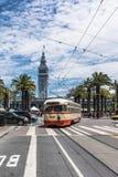 电车在旧金山,加利福尼亚 免版税图库摄影