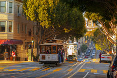 电车在旧金山 免版税库存图片