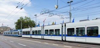 电车在苏黎世 库存图片