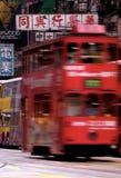 电车在香港,中国 库存图片