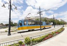 电车在索非亚,保加利亚 免版税库存照片