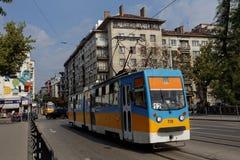 电车在索非亚,保加利亚 图库摄影