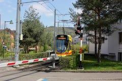 电车在Arlesheim 库存照片