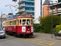 电车在Christchruch 免版税库存图片