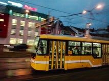电车在Pilsen,捷克 免版税图库摄影