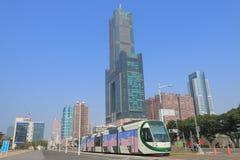 电车火车公共交通工具都市风景高雄台湾 图库摄影