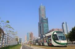 电车火车公共交通工具都市风景高雄台湾 库存照片