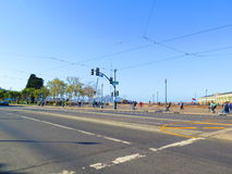 电车线在旧金山 库存照片