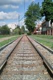 电车线路。 免版税库存照片