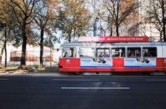 电车维也纳,奥地利 免版税库存图片