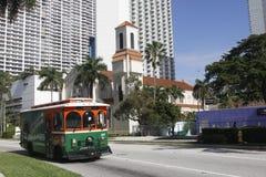 电车街市在迈阿密 免版税库存照片