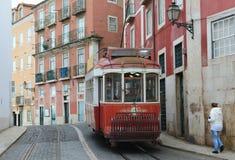 电车里斯本,里斯本, Lissabon 免版税库存图片