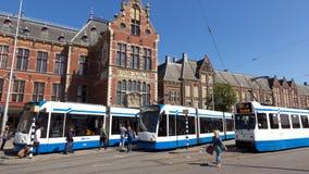 电车阿姆斯特丹 免版税库存图片