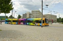 电车,德累斯顿,德国 免版税图库摄影