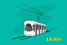 电车,现代城市公共交通工具 库存例证