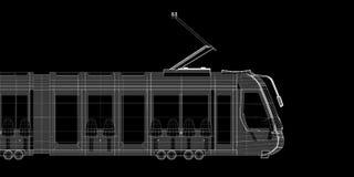 电车,电车,路面电车 皇族释放例证