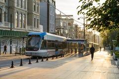 电车驻地街市在伊斯坦布尔 免版税库存照片