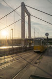 电车no.24在阿姆斯特丹, Netherland 2在布达佩斯 免版税库存图片