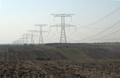 电运输定向塔 库存照片