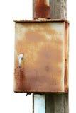 电配件箱的控制 免版税图库摄影