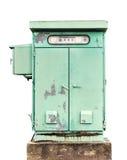 电配件箱的控制 免版税库存图片