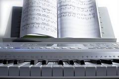 电钢琴的钥匙 库存图片