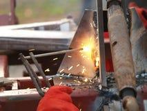 电镀电弧焊接 库存照片