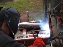 电镀电弧焊接 免版税图库摄影