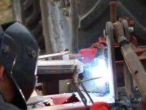 电镀电弧焊接 免版税库存照片