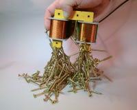 电镀磁铁 免版税库存图片