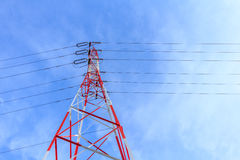 电高杆电压 库存照片