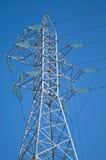 电高柱子电压 库存图片