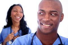 男人和妇女医疗域 免版税库存图片