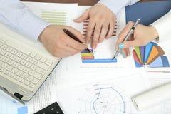 对统计的分析 免版税图库摄影