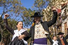 男人和妇女在巴伦西亚,西班牙 图库摄影