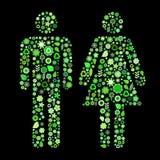 男人和妇女形状 免版税库存照片
