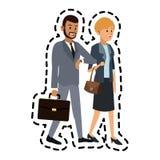 男人和妇女朋友象图象 向量例证