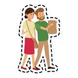 男人和妇女朋友象图象 皇族释放例证